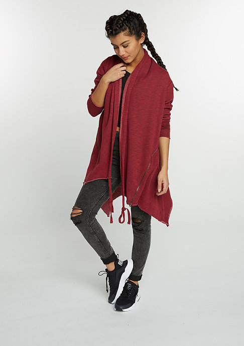Urban Classics Strickjacke Terry Cardigan burgundy