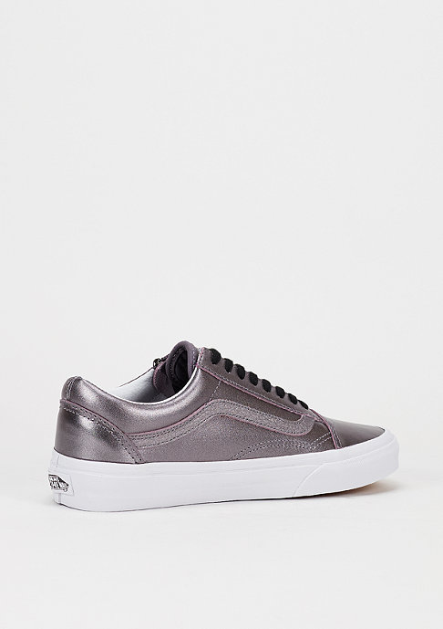 VANS Skateschuh Old Skool Zip Metallic Leather thistle purple/true white
