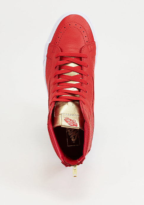 VANS Skateschuh SK8 Hi Gold Tongue red
