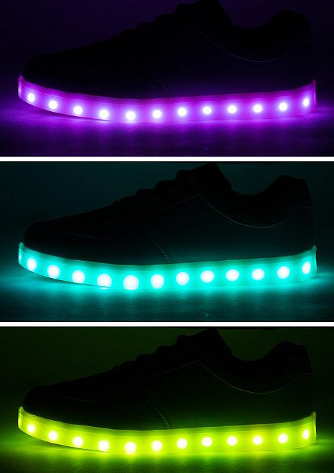 Wize & Ope Schuh LED Pop black