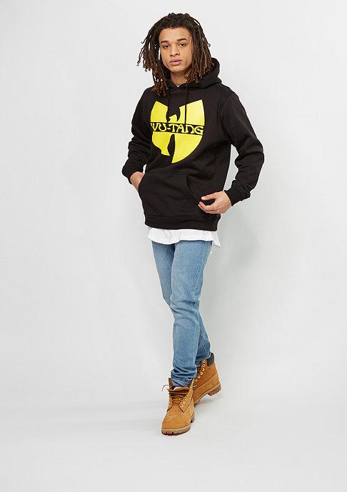 Wu-Wear Hooded-Sweatshirt Wu-Logo heather black/yellow