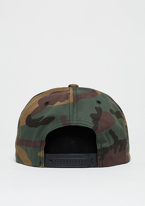 Wu-Wear Snapback-Cap Wu-Logo camo/black