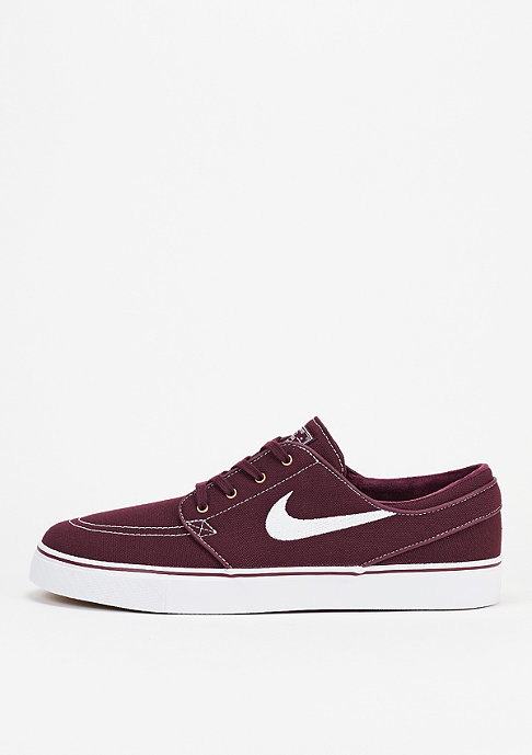 NIKE SB Skateschoen Zoom Stefan Janoski Canvas night maroon/white/metallic gold