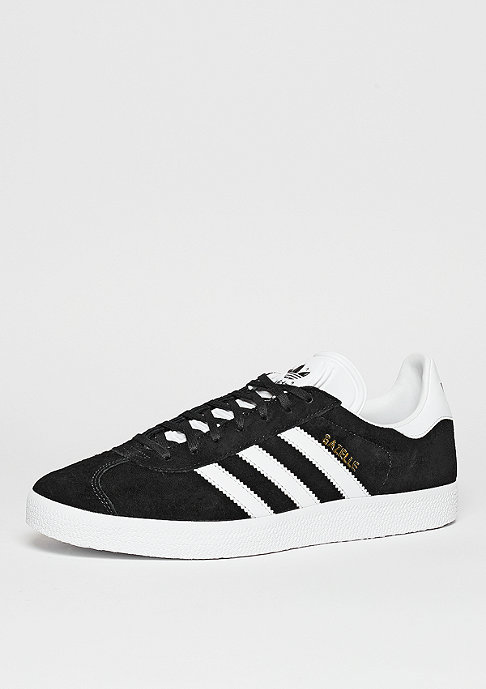 adidas Schuh Gazelle core black/white/gold metallic