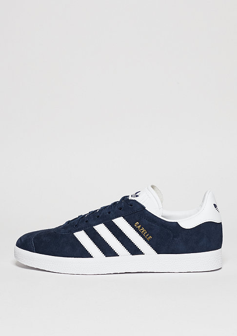 adidas Schuh Gazelle collegiate navy/white/gold metallic