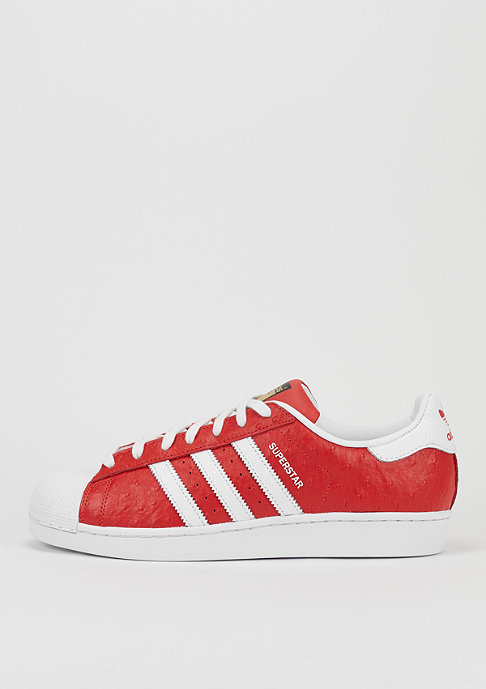 adidas Schuh Superstar Animal red