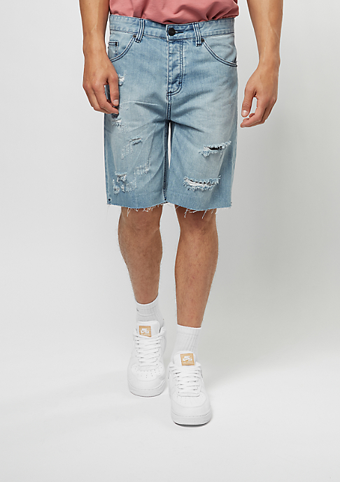 Cayler & Sons Jeans-Shorts Raw Edge Denim blue