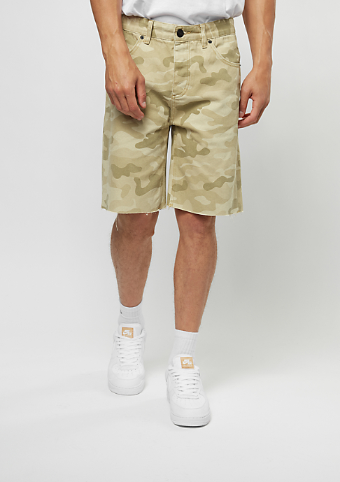 Cayler & Sons Jeans-Shorts Raw Edge Denim sand
