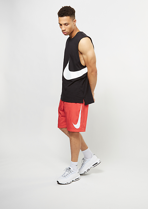 NIKE Sport-Shorts Woven Hybrid track red/white