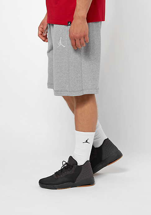 JORDAN Flight Lite French Terry dark grey heather/white