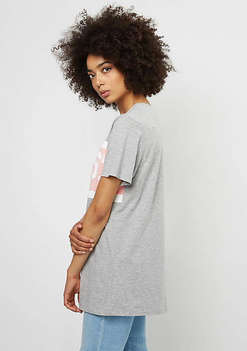 SNIPES T-Shirt Block silver pink/grey/white