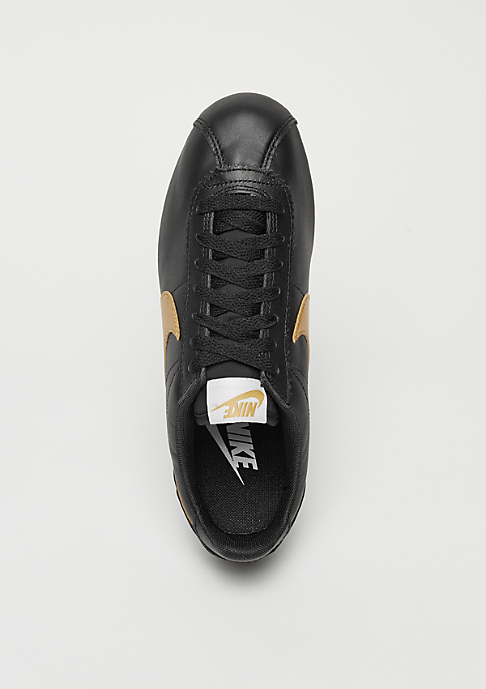 NIKE Classic Cortez Leather black/metallic gold/white