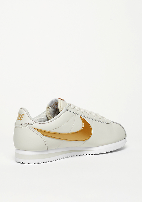 NIKE Classic Cortez Leather light bone/metallic gold/white