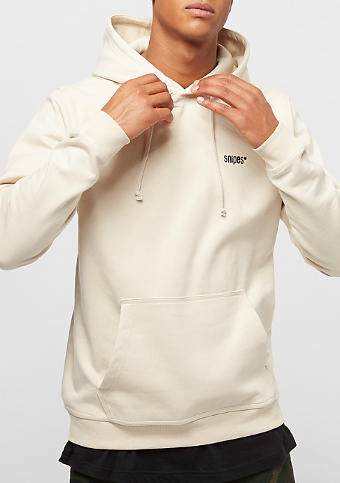 SNIPES Hooded-Sweatshirt Chest Logo birch/black embroidery