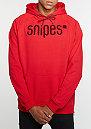 Hooded-Sweatshirt Chenille Luxury red/red/black
