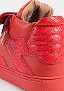 Schuh Sashimi flame red/red python