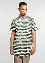 C&S BL Tee Striped Scallop woodland/white