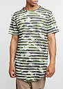 T-Shirt BL Striped Scallop woodland/white
