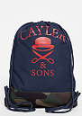 C&S WL Not Sorry Gymbag navy/woodland/red/white