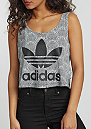 Tanktop Shell Tile Cropped Logo white