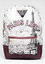 C&S WL Backpack Paris Life Uptown maroon/mc