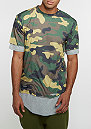 T-Shirt BL Deuces Long Layer woodland/grey heather