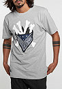 T-Shirt WL Grime grey heather/white/navy