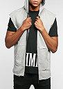 Hooded-Zipper Slate grey/black