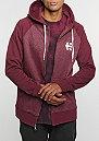 Hooded-Zipper E Corp Zip burgundy