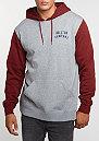Hooded-Sweatshirt Woodburn Fleece heather grey/burgundy