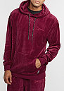 Hooded-Sweatshirt Velour wine