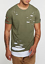 T-Shirt Kraged Kaki
