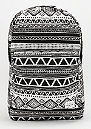 Rucksack Tribal Aztec black/white