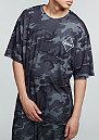 T-Shirt Skater Fit black/camo