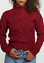 Sweatshirt Short Turtleneck burgundy