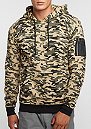 Hooded-Sweatshirt Sweat Camo Bomber wood camo