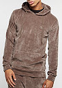 Hooded-Sweatshirt Pullover Velour mushroom/gold