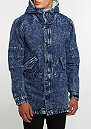 Jacket ALLDD Denim Parka blue denim acid wash