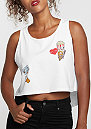 Tanktop Patch Cropped Top white