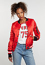 Übergangsjacke Varsity Satin Jacket red