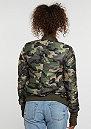Übergangsjacke Camouflage Bomber green