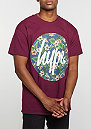 T-Shirt Flower Circle burgundy