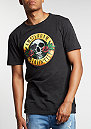 T-Shirt GL Budz N Roses Long washed black/mc