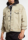 Jacke Drop Shoulder Denim sand