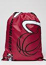 Turnbeutel Cropped Logo NBA Miami Heat burgundy