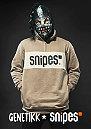 Sweatshirt Block Troyer lt brown/white