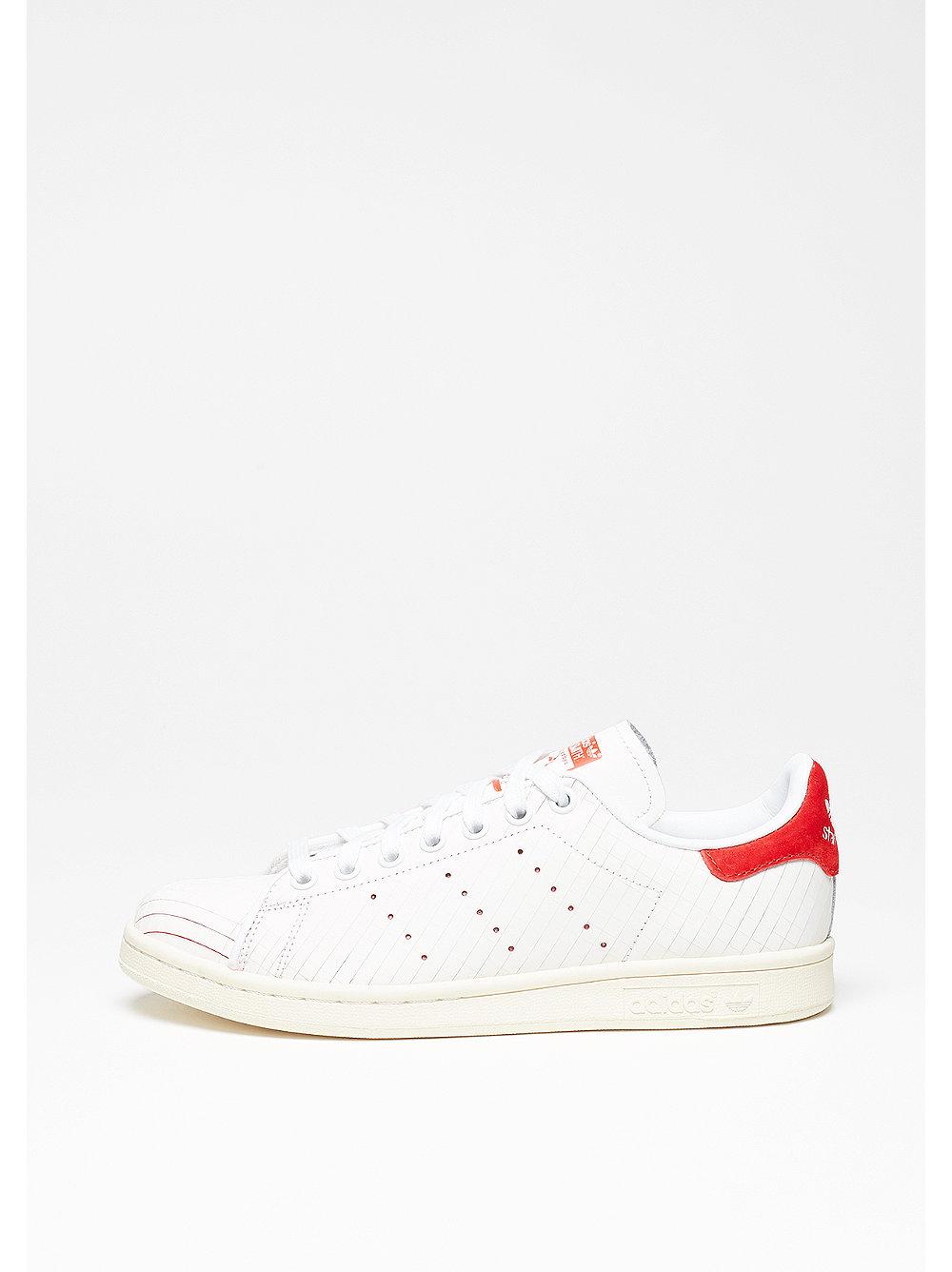 adidas Stan Smith white-white-collegiate red