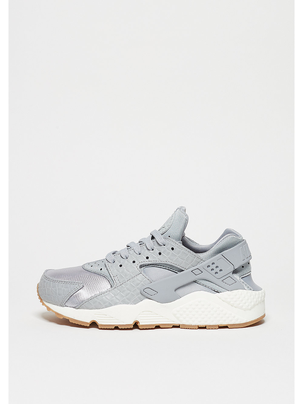 Nike Air Huarache Run damessneaker grijs en blauw