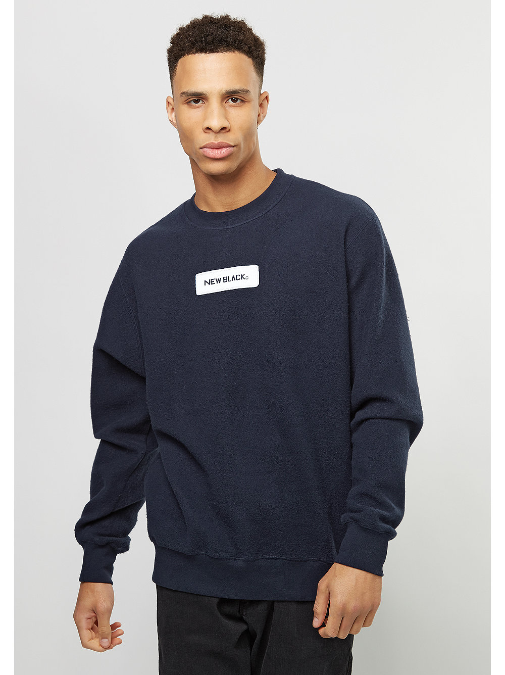New Black Sweatshirt Little Logo navy