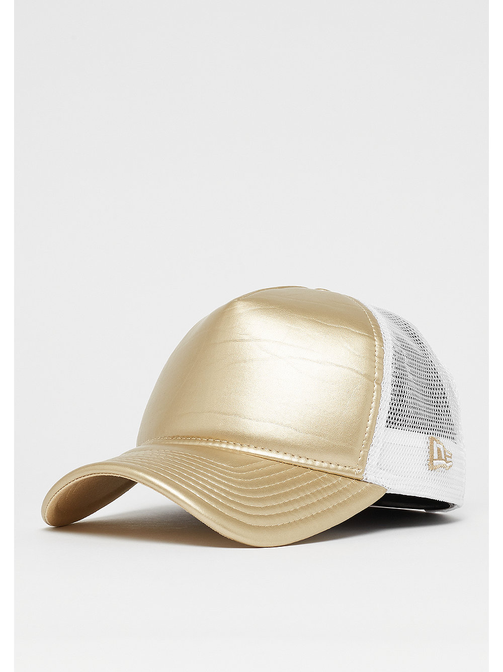 New Era Metallic Trucker gold